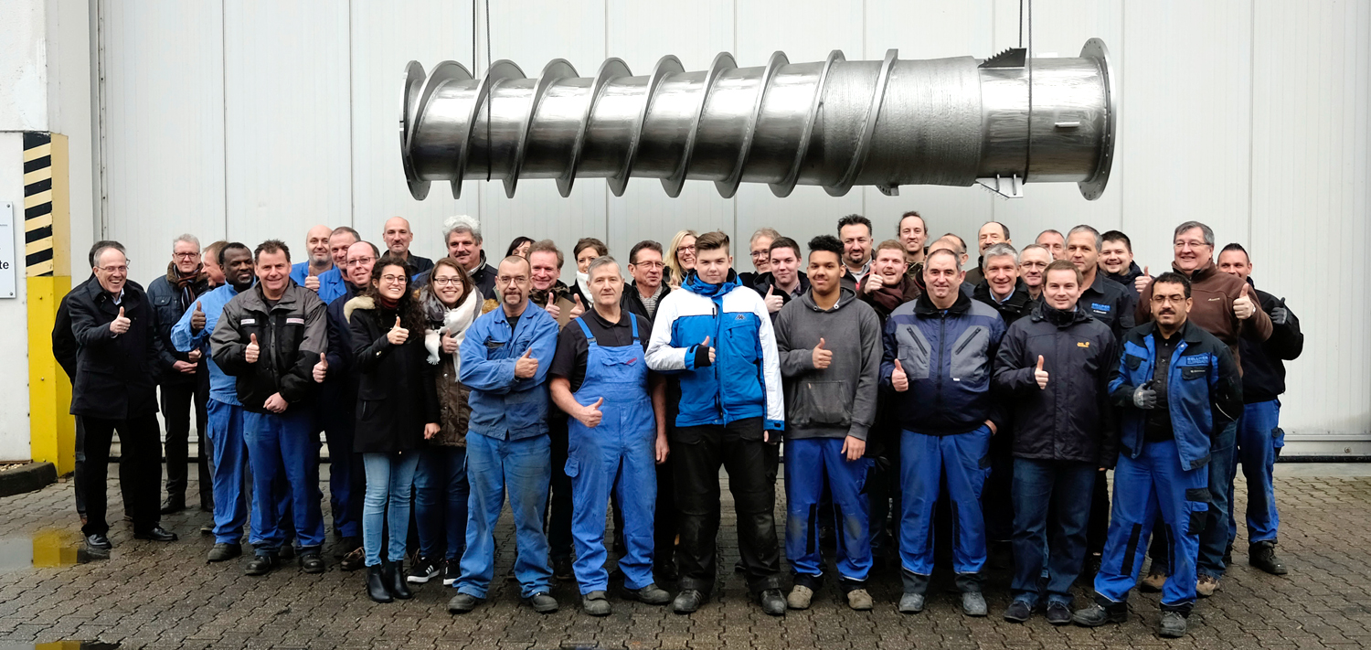 BELLMER Kufferath Team with 1.000th Screw Press
