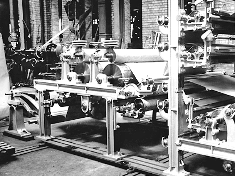 First new paper machine after the Second World War in 1950