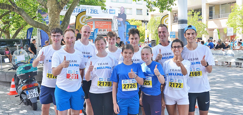 Bellmer running Team at the Pforzheimer Citylauf 2017