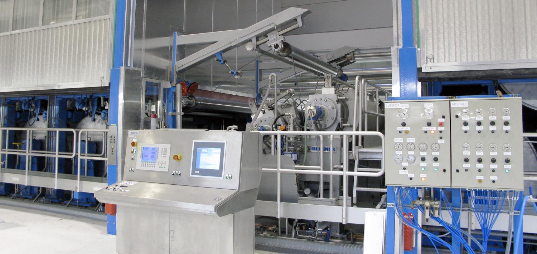 Bellmer Leimpresse TurboSizer am Testliner in Deutschland
