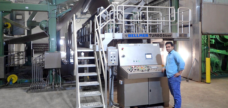 Bellmer Leimpresse TurboSizer im Bereich Verpackungsproduktion im mittleren Osten