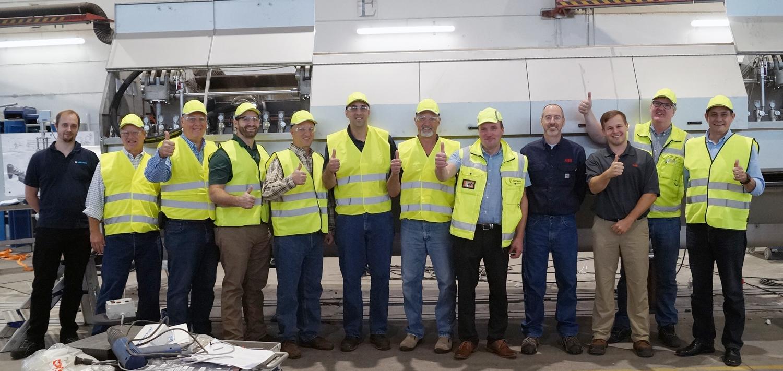 Unser erfahrenes Team vor Ort: Vice President Applicati on Engineering Tommi Lehtelä (li.) und CEO Waldomiro Silveira (r.)