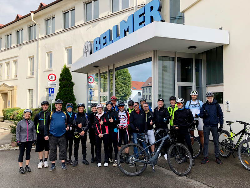 Second Bellmer Cycling tour - start of an exciting day