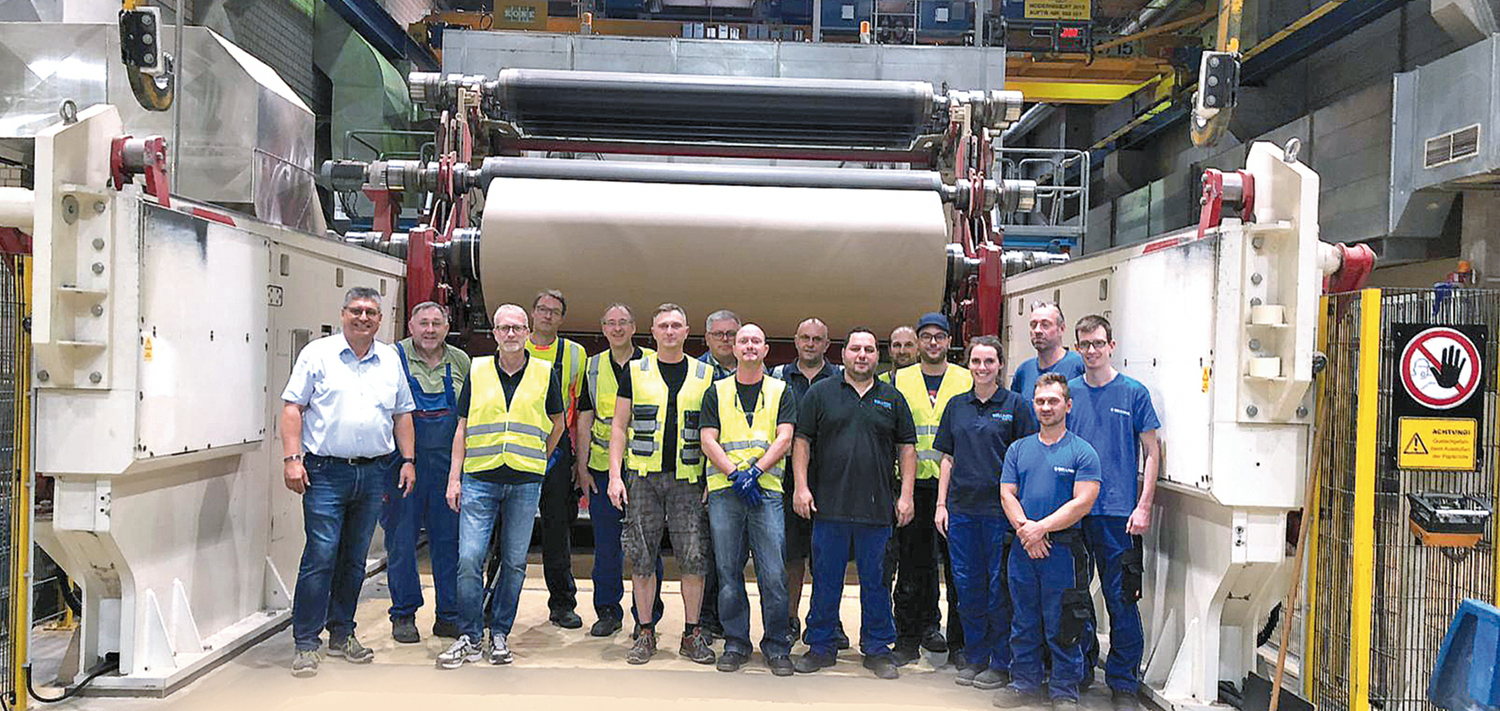 Great team at the start up at the paper mill Carl Macher