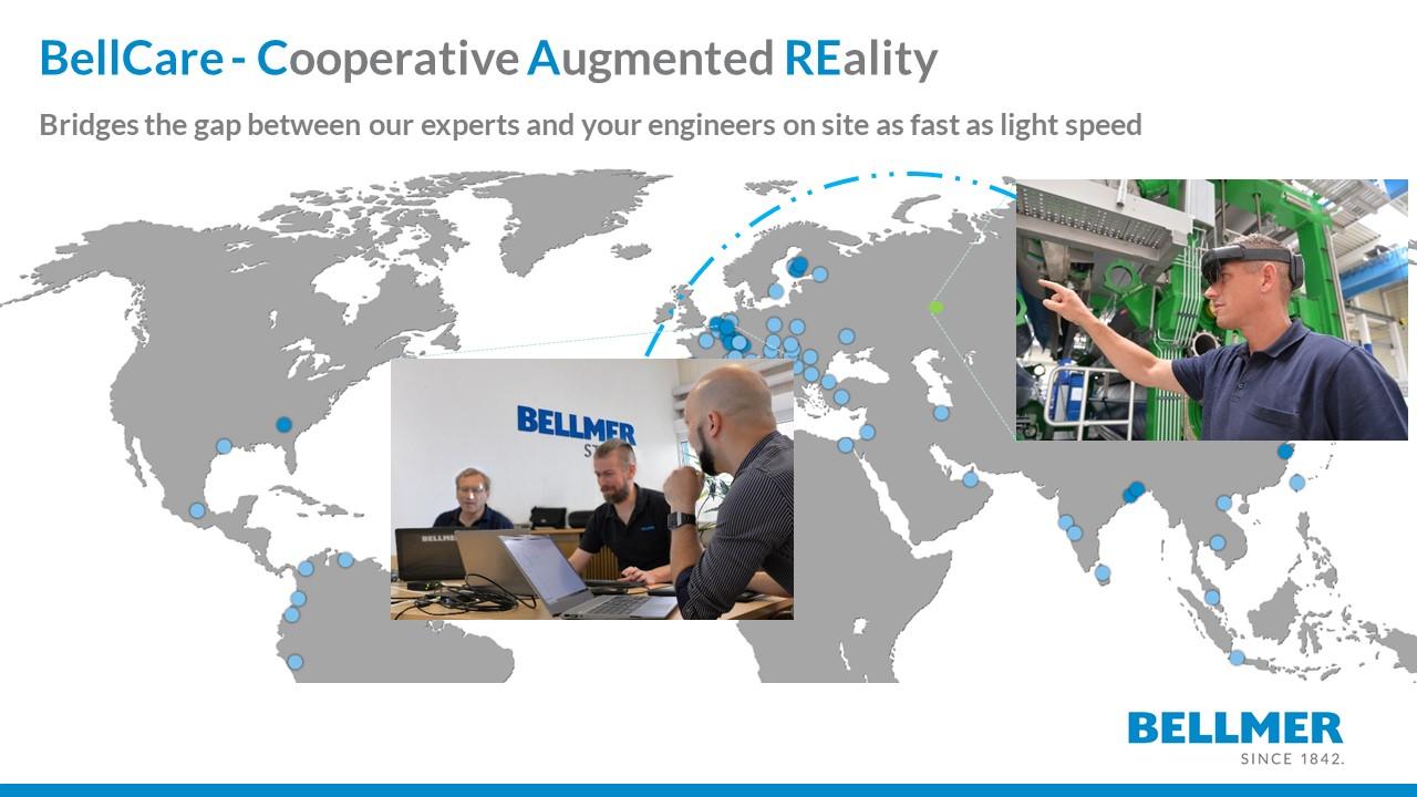 BellCare, spannte den Bogen zwischen unesren Experten und Ihren Ingenieuren vor Ort