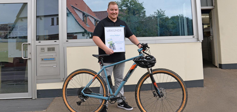Julian Bickel, an enthusiastic bike leaser