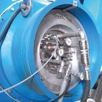Effective dewatering with Bellmer suction rolls