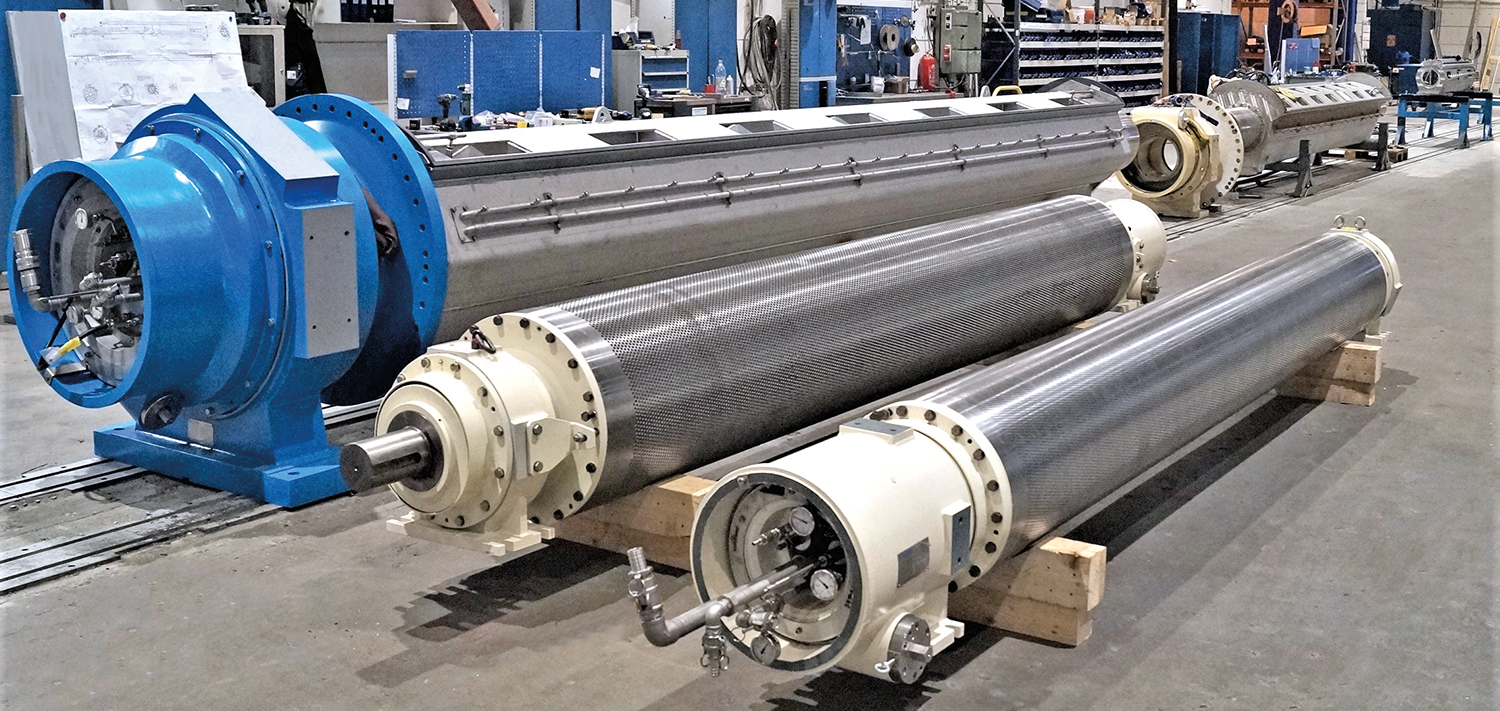 Bellmer Press section - suction rolls